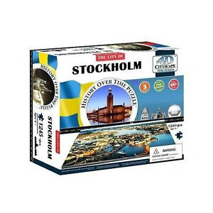 4D Cityscape Puzzle - Stockholm 3D Architectural Jigsaw Puzzle with Time Layer