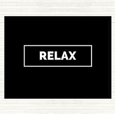 Black White Relax Boxed Quote Dinner Table Placemat