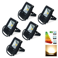 6x 10W LED Flood Security Lights Warm White Lamp IP65 Outdoor Garden Wall Wash