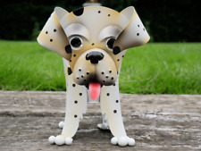 Dalmation Dog Planter Outdoor Garden Pot Ornament , Display For Flowers / Herbs