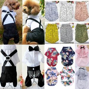 Pet Puppy Dog Formal Dress Suit Chihuahua Dog Clothes Vest T shirt Pet Apparel
