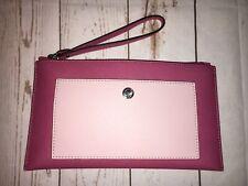 Michael Kors Pink Grab Clutch Leather Designer RRP£129 New Hobo Holiday Wedding