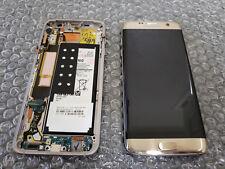 Brand New Samsung Galaxy S7 Edge G935 LCD Digitizer Screen Frame Gold + Battery