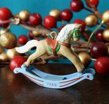 Hallmark Miniature Ornament 1989 Rocking Horse  Value $31.00