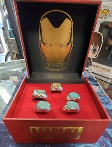 Marvel: Avengers Endgame Iron Man Arc Reactors 5 Ring Set by Salesone