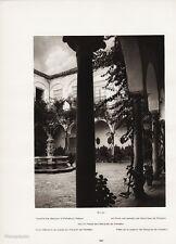 1922 Vintage SPAIN Ecija Palace de Penaflor Fountain Garden Photo Art HIELSCHER