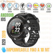 R20 SMARTWATCH OROLOGIO SPORTIVO IOS ANDROID GPS BLUETOOTH IMPERMEABILE IP68