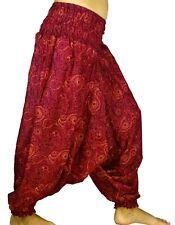 Sarouel Femme Pantalon Ethnique Aladin Harem Pant Aladdin yoga rouge bordeaux