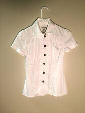 Banana Republic stretch size XS white button down women's dress work shirt GUC