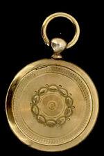 Antico 18CT Medaglione Pendente Cerniera Oro Maiuscole/Minuscole Impressive