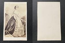 L'impératrice Eugénie en robe de cour, d'après un tableau, circa 1860