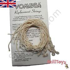 Pack of 5 Official YOMEGA white Yo-Yo Strings pre-tied suitable for all yo-yos