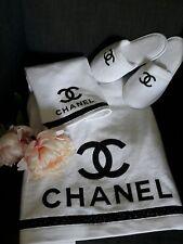 set di regalo/asciugamani Chanel con pantofole,Chanel bath towel,luxury cotton
