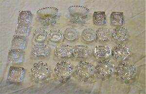 Huge Collection of 27 Glass Salt Cellars