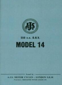 AJS Instruction Manual Model 14 250 cc Lightweight Book