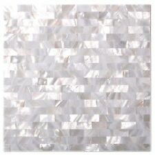 Subway tile white seamless mother of pearl kitchen backsplash tile bathroom wall