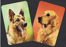 Playing Swap Cards  2  VINT  SUPER  ALSATION  &  GOLDEN   RETRIVER  DOGS W219