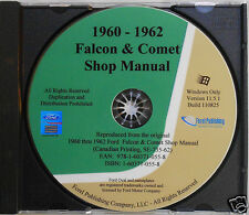 1960 1961 and 1962 Ford Falcon Comet Shop Manual (CD-ROM)