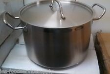 New listing 40 Qt. Stock Pot with Lid - 18/8 Stainless Induction Ready Commercial Cookware