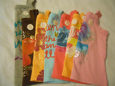 NEW Old Navy Baby Girls Shirts Toddler Sleeveless Tank Top Pink Brown Orange