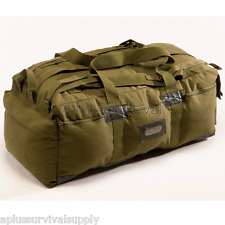 """34"""" Heavy Duty Olive Canvas Tactical Duffle Tote Backpack Bag for Survival Kits"""