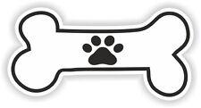PAW BONE STICKER DOG FOOD BOWL PUPPY PET VINYL BUMPER DECAL CAR TRUCK MOTORCYCLE