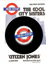 """PROMO"".COOL CITY SISTERS.CITIZEN JONES.UK ORIG 7"" + PRESS RELEASE INSERT.EX+"