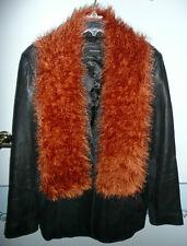 Hand Knitted Fun Fur Scarf Copper Lion Yarn