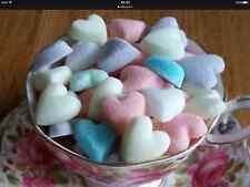 100 Mezclados Pastel Corazón en forma de terrones de azúcar para bodas y ocasiones especiales