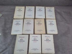 MES CAHIERS. Par Maurice Barrès. 1929-1938. Edition originale.