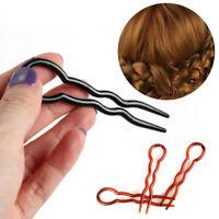 12pcs Simple Hair Pins Fast Spiral Hairpin U Shaped Hair Braid Twist Pin U_X