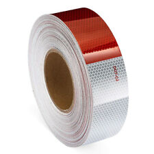"""2""""x150' Dot-C2 PREMIUM Reflective Red and White Conspicuity Tape Trailer 1 Roll~"""