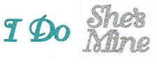 Bride I Do Shoe Stickers or Groom She's Mine Shoe Stickers Wedding Supplies