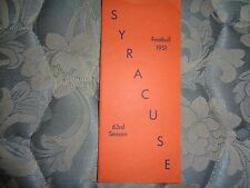 1951 SYRACUSE FOOTBALL MEDIA GUIDE Yearbook Program Press Book College AD