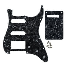 Black Pearl 4Ply ST Guitar SSH Pickguard with Back Plate for Fender Strat Guitar