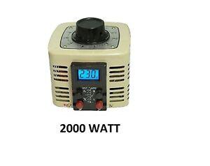 LCD Stelltrafo Regeltrafo 230V 2000Watt 8A Trafo Spartrafo Ringkerntrafo