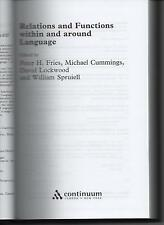 Relations And Functions Within And Around Language  Cummings Fries Lockwood & Sp
