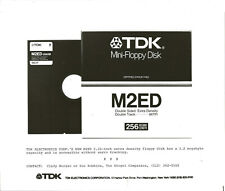 ITHistory (198X) Press Photo: TDK M2ED Mini Floppy Disk 5.25 Inch (Caption) Q