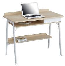 Sixbros. mesa de ordenador roble efecto madera blanco Ct-3581/4462