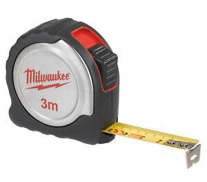 Milwaukee 3m x 16mm Professional Retractable Tape Measure Metal Blade Metric