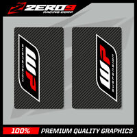 WP UPPER FORK DECALS MOTOCROSS GRAPHICS MX GRAPHICS ENDURO CARBON