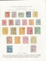 CMMY13) Victoria 1901 – 1902 cto collection of 30 different ½d to 45/-