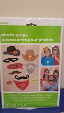 WESTERN COWBOY Photo Booth Props Set of 10 WESTERN Party  - Create Fun Photos!