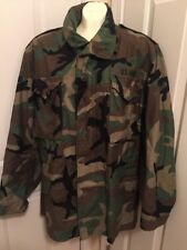 Military Issue Cold Weather Field Jacket Coat Woodland Camo M65 M Medium Regular