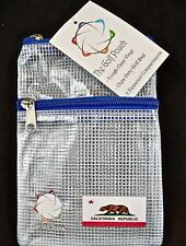 The GOLF POUCH, CALIFORNIA FLAG, See Through Pouch for Accessories. Fast Shiping
