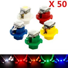 50Pcs T5 B8.4D Socket Car LED Indicator Cluster Gauge Dashboard Dash Side Lights