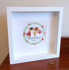 Unique personalised LEGO same sex (female) Wedding / Anniversary gift frame AFOL