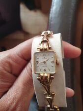ROLEX 18k Gold Case Ladies Vintage Bracelet Watch. Bracelet 9k