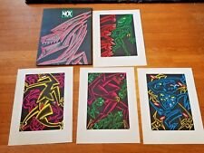 Nox Serigraph portfolio 4 prints #56/250 ~ Ray Rohr Cosmic Artifacts