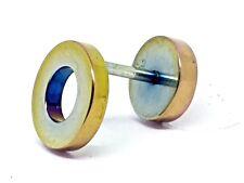 Falsa Oreja Túnel Camilla de oreja 14g (1.6mm) disco de tramposo Stud Arco Iris Enchufe de 10 mm